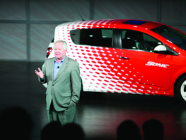 Rick Scheidt, VP, U.S. Chevrolet Marketing, debuted the 2012-MY Chevrolet Sonic, which will come...