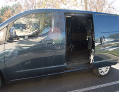 The LS includes driver- and passenger-side sliding doors.