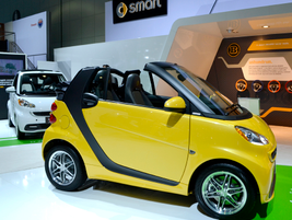 The smart brand brought its fortwo electric drive. The electric drive has a top speed of 78 mph...