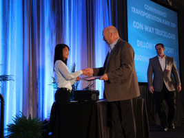 Thi Dao, executive editor of Government Fleet magazine, presents Top 50 Green Fleets their...