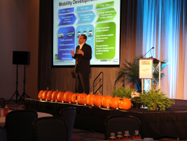 Keynote speaker John Viera, global director of sustainability for Ford Motor Co., wrapped up the...