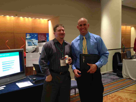 ZoomSafer's table at the 2012 Fleet Safety Conference.