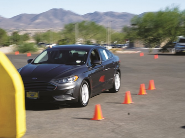 Attendees were able to test drive a Ford Fusion to get a first-hand demonstration of its suite...