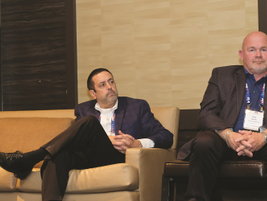 Offering insights into best practices in driver risk assessment were (L-R) Bob Mossing, fleet...