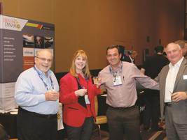 One of the exhibitors at the Fleet Safety Conference was Driving Dynamics. Standing far left is...