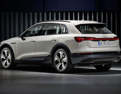 Audi will offer its 2019 E-tron crossover, which it says will provide about 250 miles of range...