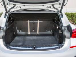 The vehicle offers 21.6 cubic feet of storage behind the second row of seating.
