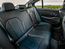 Rear bench seating is comfortable with enough legroom for most adults.