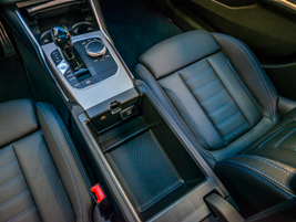 Here's a closer look at the center console storage area.