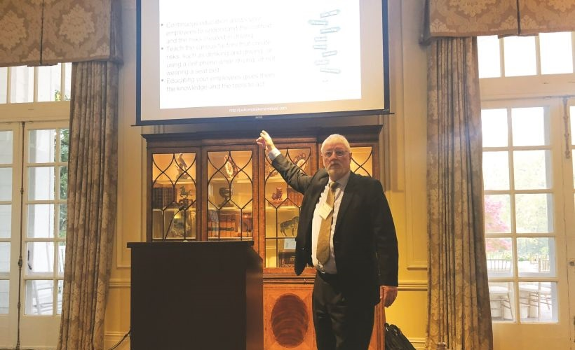 Judge Brian MacKenzie (retired) spoke on how a company can build a traffic safety culture to...