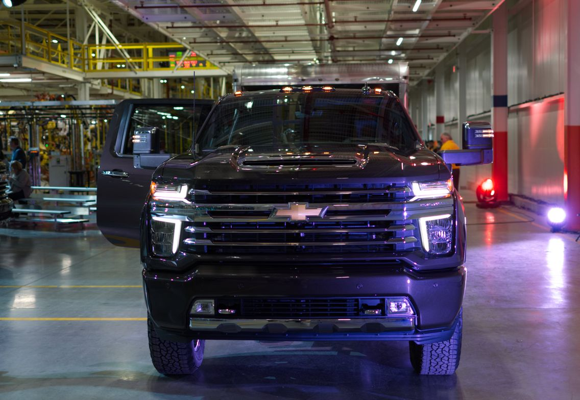 The bold design of the front grill was driven by GM's desire to make the 2020 Silverado HD evoke...