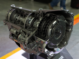 A cutaway of the Allison 10-speed transmission. Power take off is available straight from the...