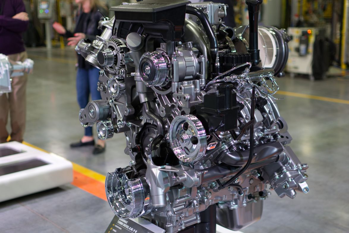 The Duramax 6.6L turbo-diesel V-8 comes mated with the all-new 10-speed Allison transmission....