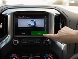 An on-screen trailering checklist on the 2020 Silverado HD allows drivers with minimal...
