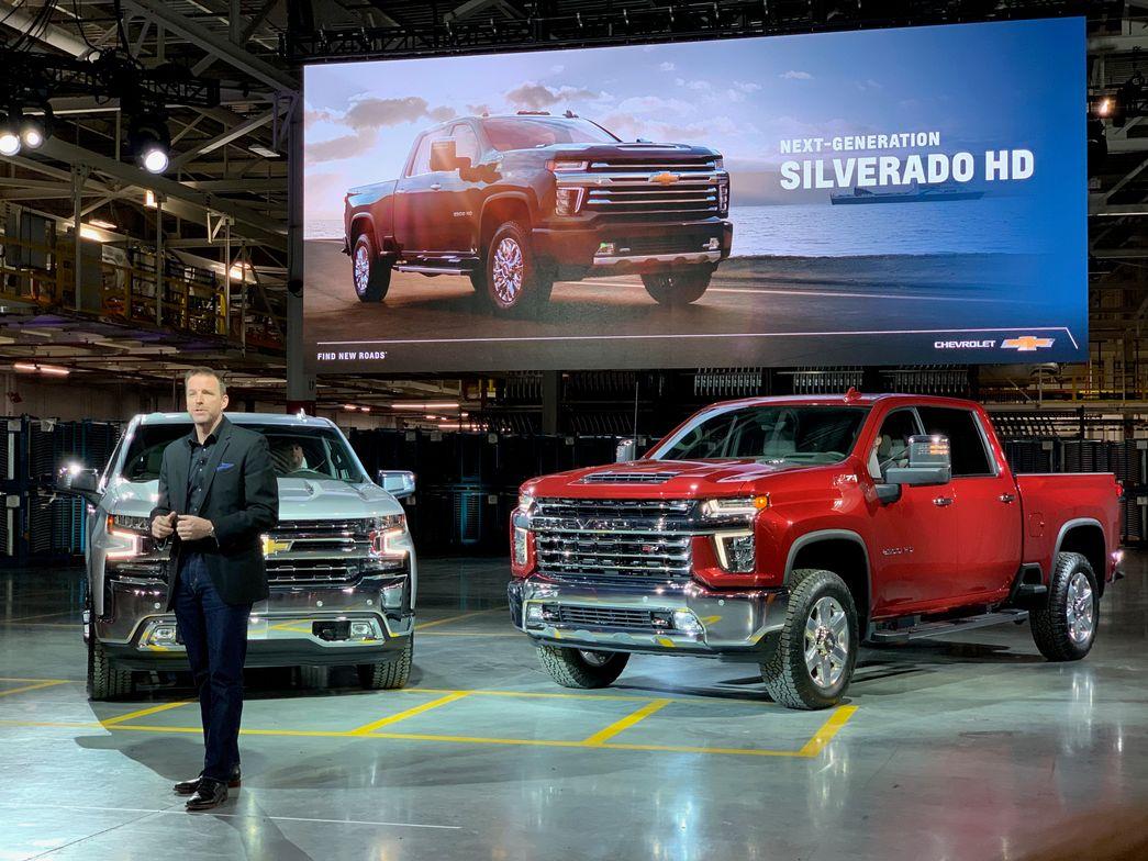 Rich Scheer, director, Exterior Design, Chevrolet Trucks displayed the light-duty and heavy duty...