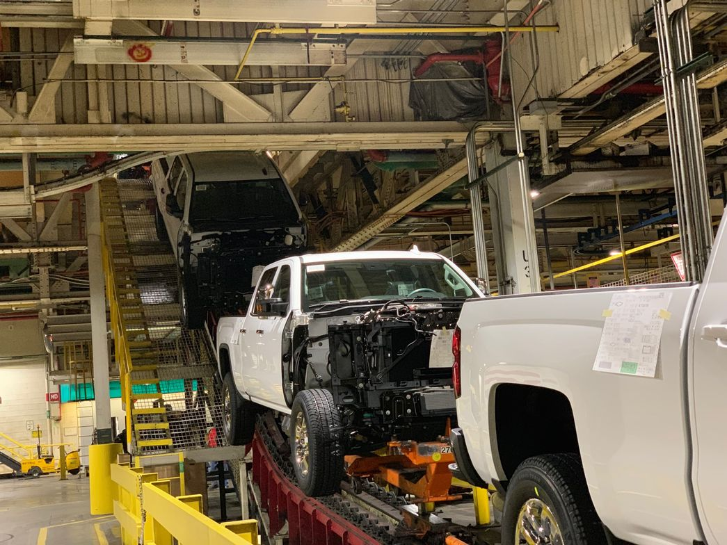The GM Flint Assembly plant is finalizing production of remaining MY-2019 Silverado units before...