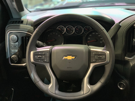 The steering wheel of the LT trim level of the 2020 Silverado 2500HD.