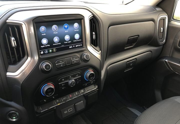 The 2020 Silverado 1500 is compatible with Apple Car Play and Android Auto.  - Photo by Vince Taroc.