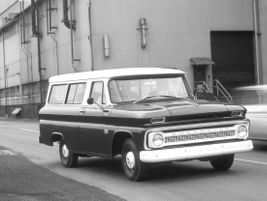 The fifth generation 1966 Suburban offered two- and four-wheel drive and offered air...
