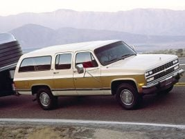 The seventh generation 1991 Suburban was completely redesigned into a four-door SUV with a...
