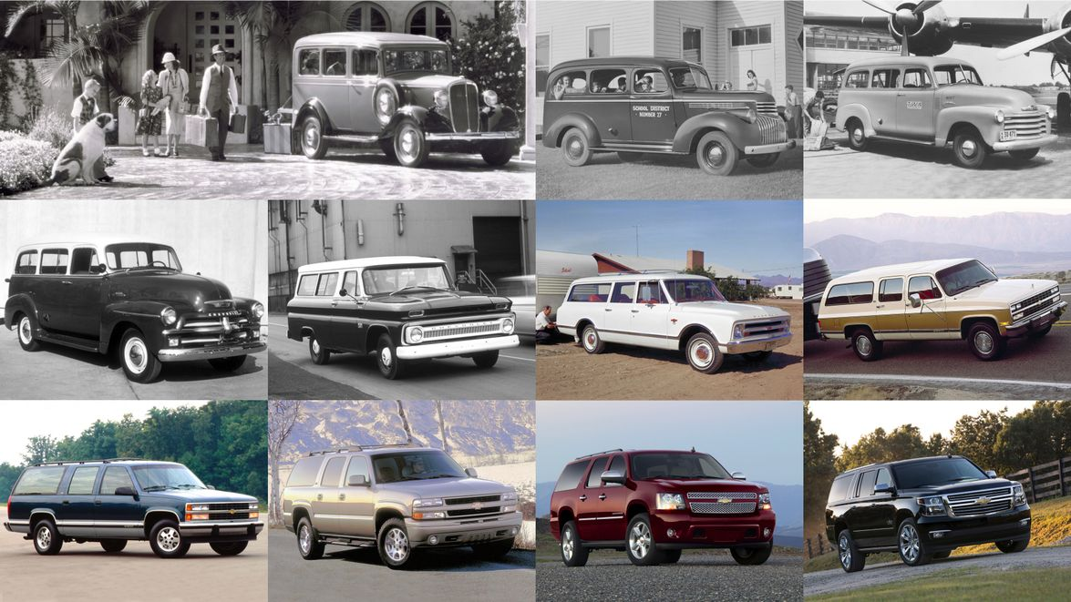 Here's a look through 11 generations of Chevrolet Suburban.
