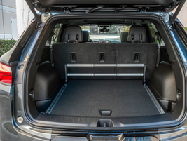 With the second-row seats in place, cargo volume is 30.5 cu-ft. Folding the seats expands it to...