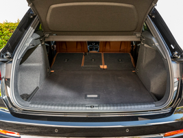 With rear seats folded, cargo space expands to 48 cubic feet.