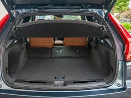 When you fold down the second row, cargo volume expands to 48.9 cubic feet.