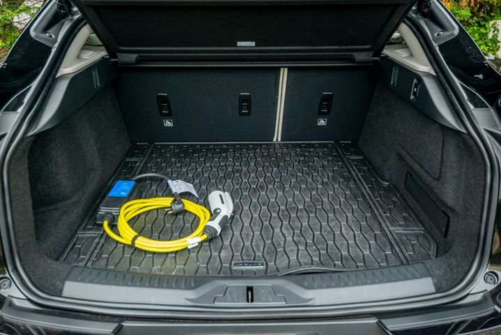 The I-Pace has 25.3 cubic feetof cargo space with second row seats up and 51 cubic feet with...