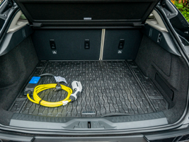 The I-Pace has 25.3 cubic feet of cargo space with second row seats up and 51 cubic feet with...