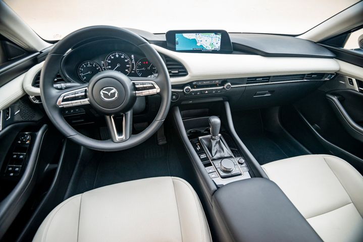 The leather sport seats are comfortable and the leather wrapped steering wheel and shift knob are nice touches that add to the experience. 