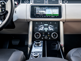 The vehicle gets Land Rover's Touch Pro Duo pair of 10-inch screens.