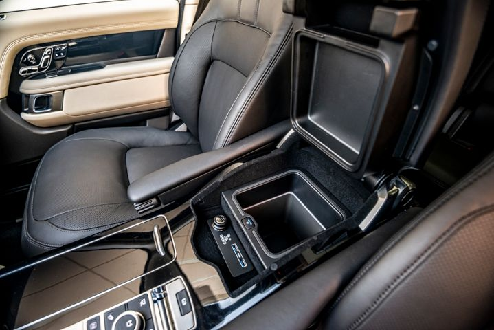 Here's a closer look at the center console storage bin.