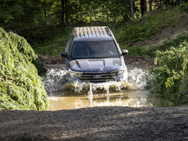 The Explorer XLT can traverse through up to 18 inches of water.