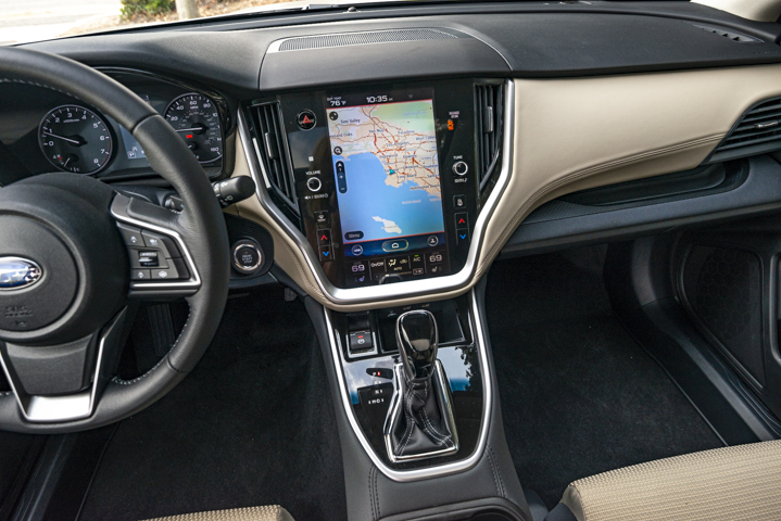 An 11.6-inch bright, portrait-style touchscreen is embedded in the dash.  - Photo by Kelly Bracken.