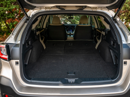 Folding down the second row gives you 75.7 cubic feet of space.
