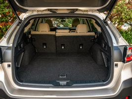 With the seats in place, cargo volume is 32.5 cubic feet.