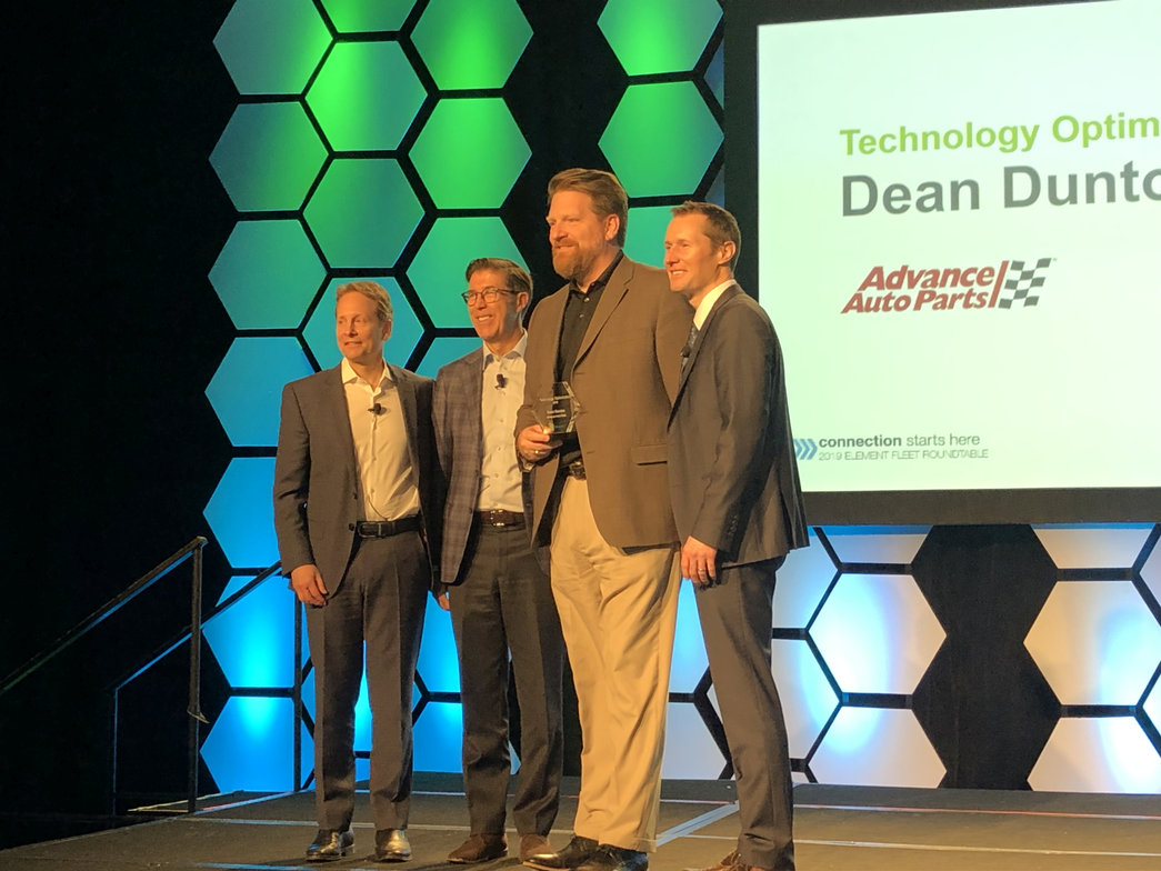 """The 2019 Element Impact Award for """"Technology Optimization"""" was presented to Dean Dunton, PMP,..."""