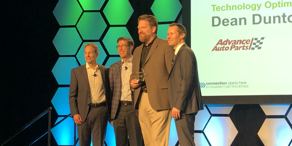 "The 2019 Element Impact Award for ""Technology Optimization"" was presented to Dean Dunton, PMP,..."