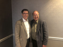 Jay Forbes, President & CEO of Element Fleet Management (left), poses for a photo with AF Editor...