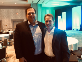 Posing for a photo at the 2019 Element Fleet Roundtable are (L-R) are Jim Halliday, chief...
