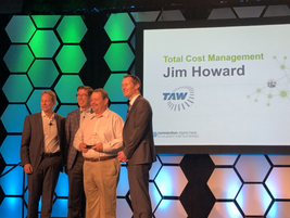 """The 2019 Element Impact Award tor """"Total Cost of Ownership"""" was won by Jim Howard, Facilities &..."""