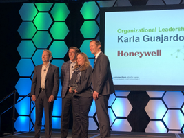 "The winner of the 2019 Element Impact Award for ""Organizational Leadership"" was Karla Guajardo,..."