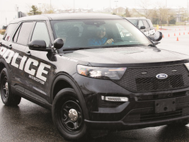 Attendees had an opportunity to test drive the purpose-built next-generation Ford Police...