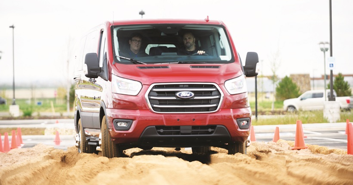 The 2020 Transit now offers a factory-installed full-time all-wheel-drive (AWD) system....