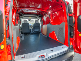 The LWB model offers 127.4 cu.-ft. of cargo space behind the front seats, while the SWB model...