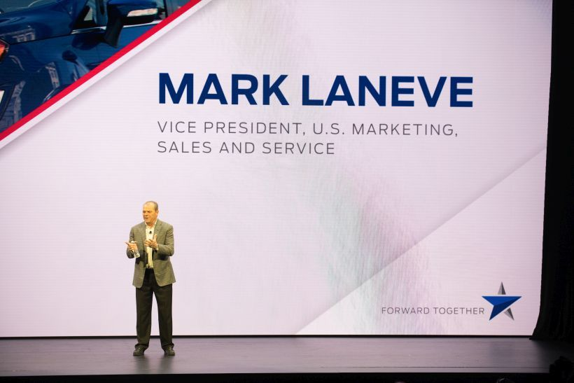 Mark LaNeve, vice president, U.S. Marketing Sales and Service, spoke at the 2019-MY Ford Fleet...