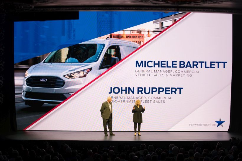 Michele Bartlett, general manager, Commercial Vehicle Sales andMarketing, and John Ruppert,...