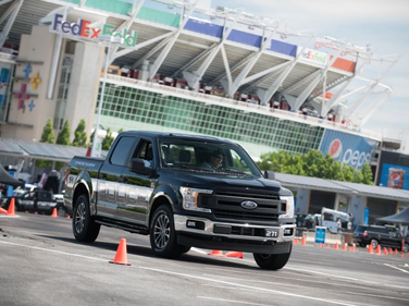 The Ford F-150 Police Responder, which attendees were able to drive during the Ride and Drive...