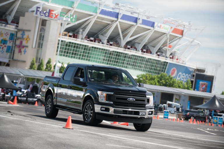 The Ford F-150 Police Responder, which attendees were able to drive, is the first-ever...